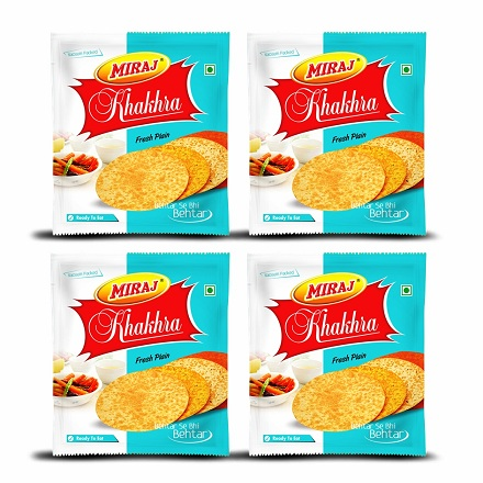 Plain Khakhra Combo Pack of (200g X 4)