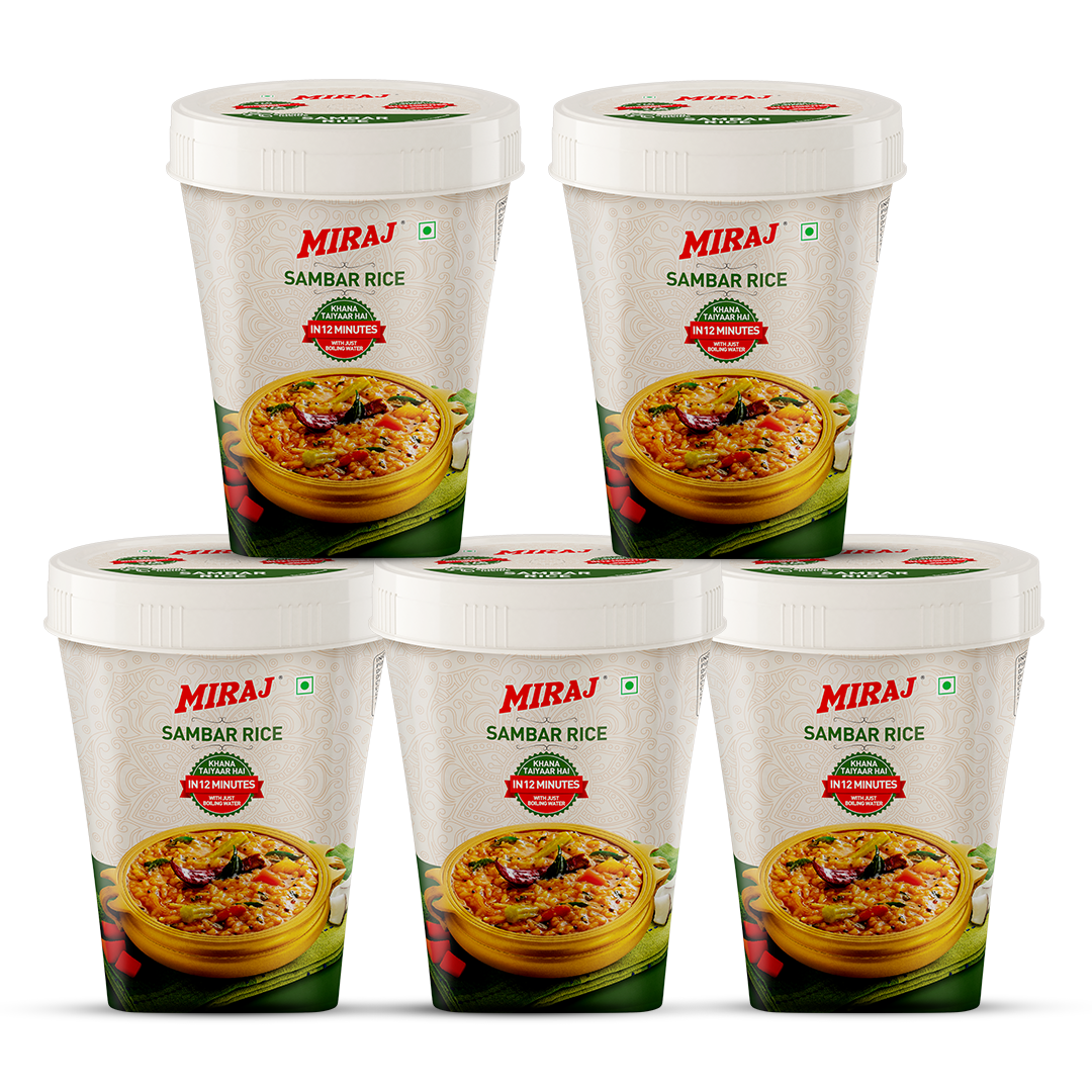 Miraj Ready To Cook Sambhar Rice (Pack of 5)