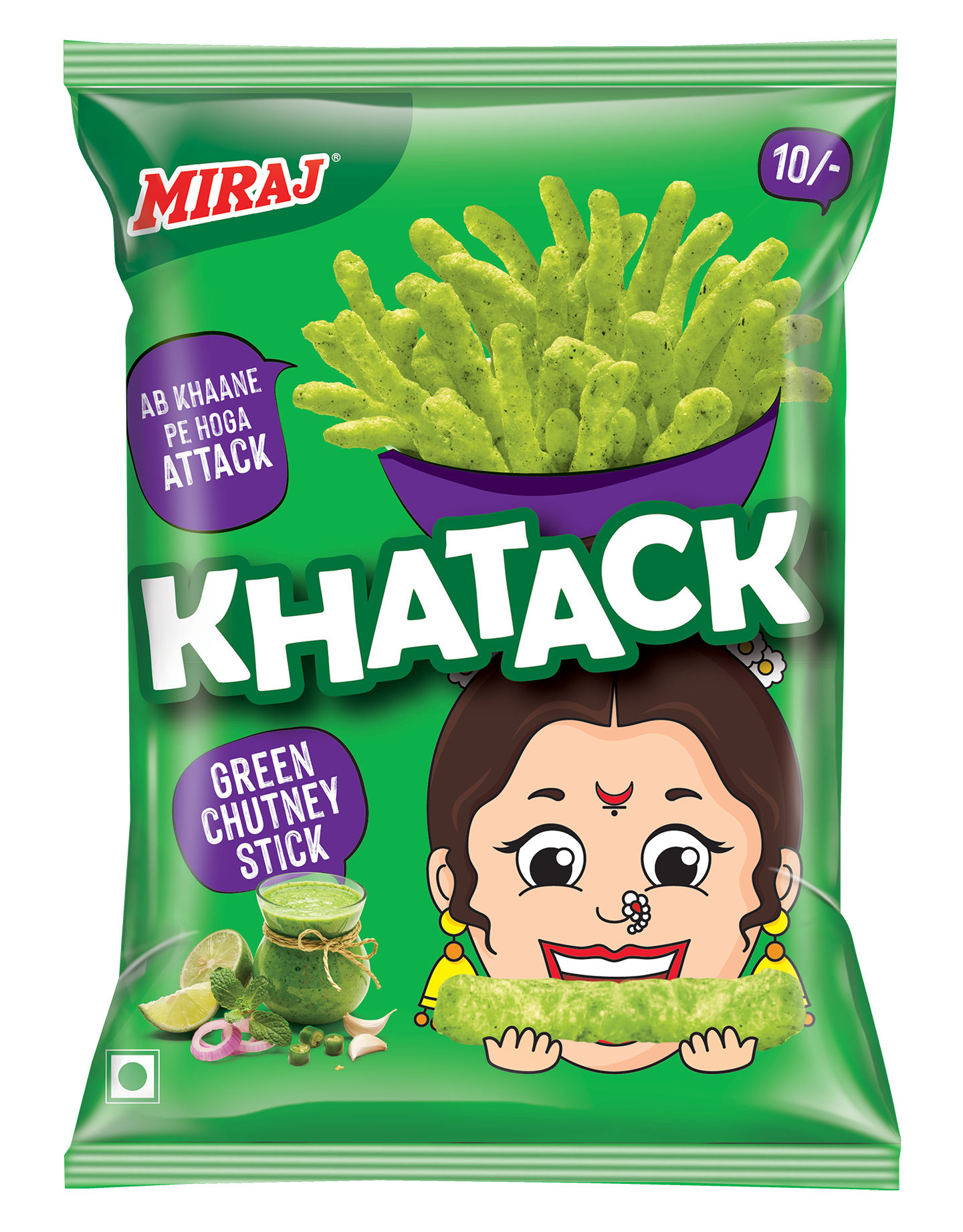 Miraj Khatack Green Chatni Sticks Rs-10