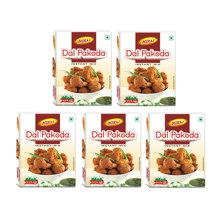 Miraj Dal Pakoda Instant Mix Pack of 5