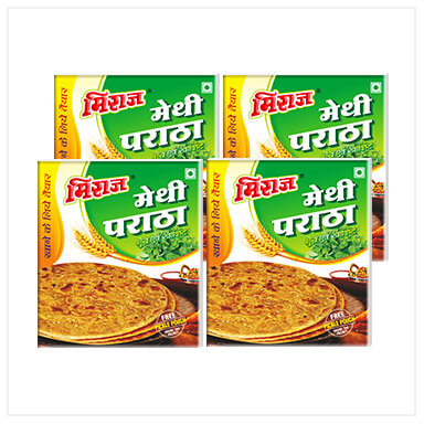 Methi Paratha Combo Pack(4x4 PCS)