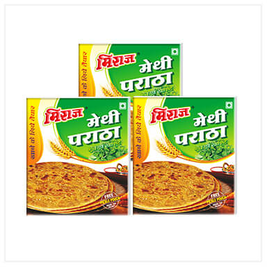 Methi Paratha Combo Pack(3x4 PCS)